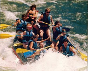 Cathy Peters Rafting 1988