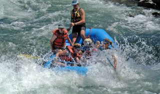 whitewater rafting on the South Fork of the American River
